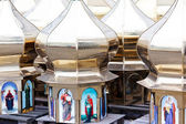 Domes for new ortodox cathedral — Stock Photo