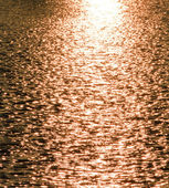 Evening sun patches of light on the lake ripple surface — Stock Photo