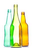Empty wine and beer bottles — Stock Photo
