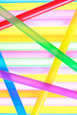 Colorful drinking straws close up background — Stock Photo