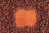 Sfondo di chicchi di caffè — Foto Stock