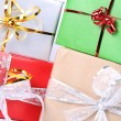 Gifts in close up — Stock Photo