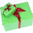Green gifts — Stock Photo #4218216