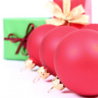 Christmas balls and gifts — Stock Photo