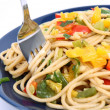 Stock Photo: Spaghetti with vegetables