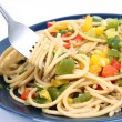 Spaghetti with vegetables - Stock Photo