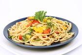 Spaghetti con verdure — Foto Stock