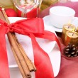 Christmas table setting — Stock Photo #4446695