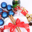 Christmas or New Year's setting - Stock Photo