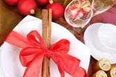 Weihnachten oder Silvester-Einstellung — Stockfoto