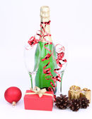 Bottiglia di champagne — Foto Stock