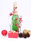 şampanya şişesi — Stok fotoğraf