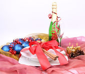 Christmas or New Year's setting — Stock Photo