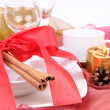 Christmas table setting - Foto Stock