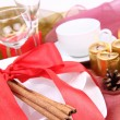 Christmas table setting - Stockfoto