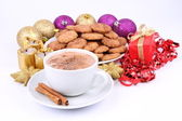 Cookies et chocolat chaud — Photo