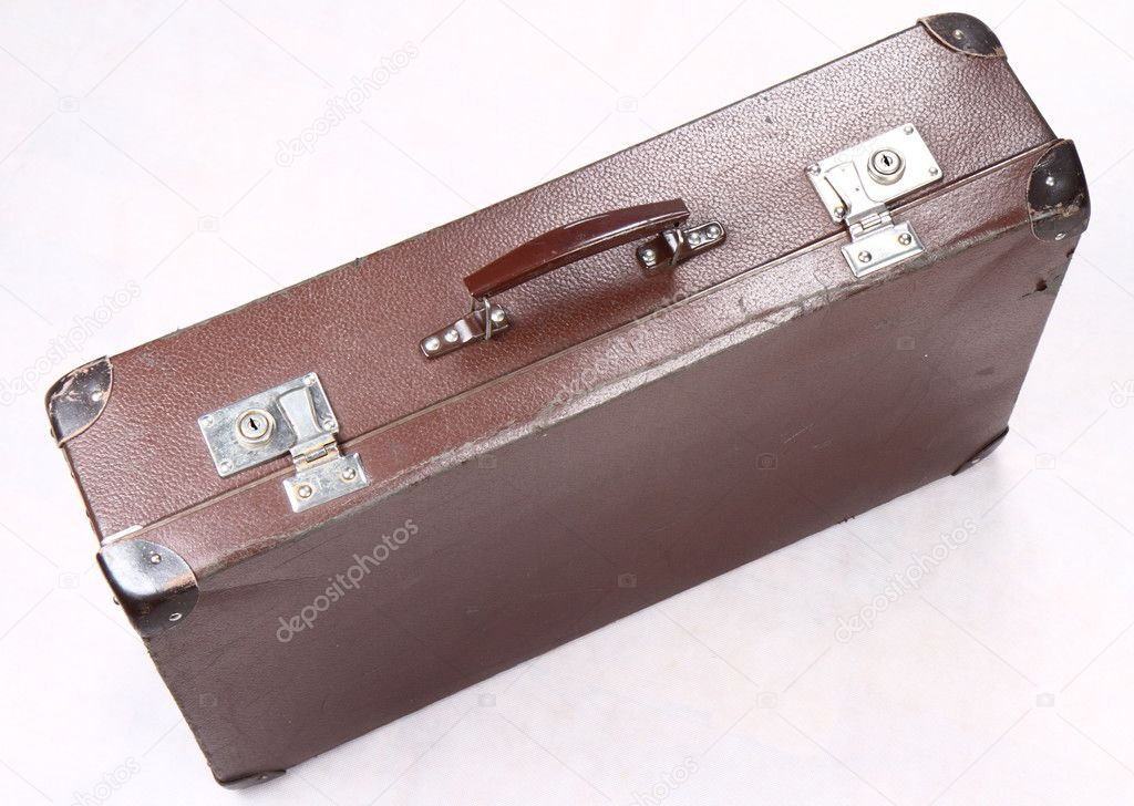 Vintage suitcase on white background  Stock Photo #4728638