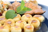 Pork steak and dumplings — Stock Photo