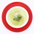 Pea and mozzarella soup — Stock Photo #5241722
