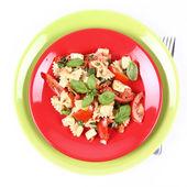 Salade sur une assiette — Photo