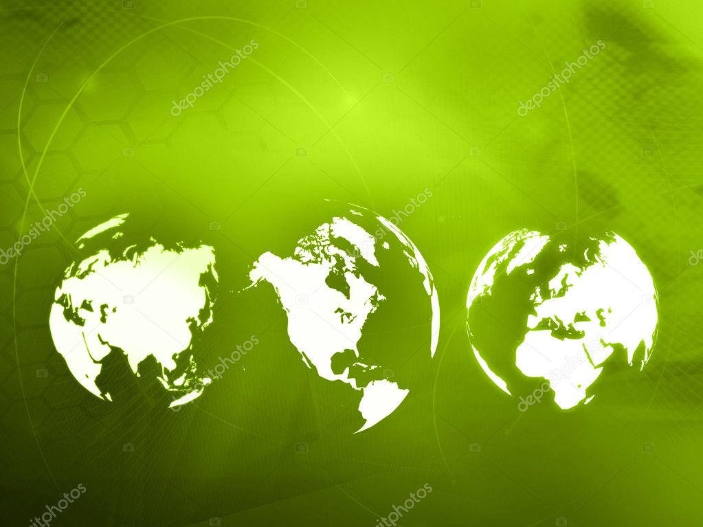 World map technology style - perfect background with space for text or image — Stock Photo #4170339