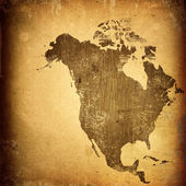 岁的美国地图复古图稿 — 图库照片