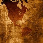 Aged asia map-grunge artwork — Stock Photo