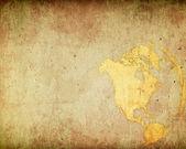 Invecchiato america mappa — Foto Stock
