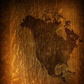 Aged America map-vintage artwork — Stock Photo