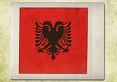 Bandeira da foto instantânea vintage, Albânia — Fotografia Stock