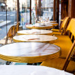 Cafe terrace in paris — Stock Photo