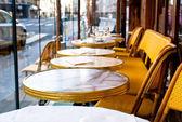 Cafe terrace in paris — Stock Photo