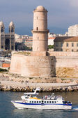 Marseille fortress and Cathedral — Stock Photo