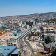 Panoramic view on Valparaiso, Chile - Stock Photo