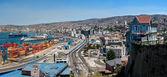 Panoramic view on Valparaiso, Chile — Stock Photo