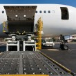 Loading cargo plane — Stock Photo #4963920