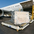 Loading cargo plane — Stock Photo
