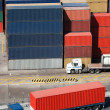Truck and containers - Stock Photo