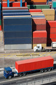 Truck and containers — Stock Photo