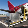Loading cargo plane — Stock Photo #5198468