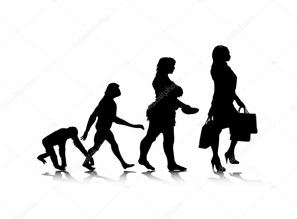An abstract vector illustration of human evolution. — Stock Vector #4068907