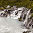 Stock Photo: Waterfall Hraunfossar - Iceland