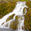 Small part of Dynjandi waterfall - Iceland — Stock Photo