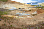 Geothermal area, colorful landscape - Iceland. — Stock Photo