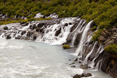 Waterfall Hraunfossar - Iceland — Stock Photo