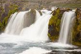 Part of Dynjandi waterfall - Iceland — Stock Photo