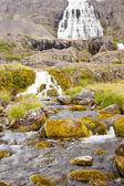 Dynjandi waterfall - western Iceland. — Stock Photo
