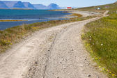 Country gravel route - Iceland — Stock Photo
