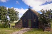 Old wooden church in Iceland at Vidimyri. — Stock Photo