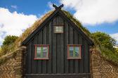 Part of wooden church at Vidimyri - Iceland — Stock Photo